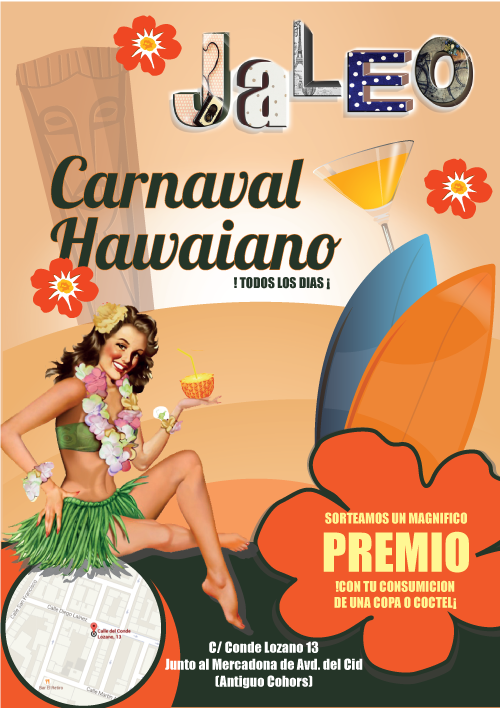Hawaiian-party-jaleo-cartel-burgos